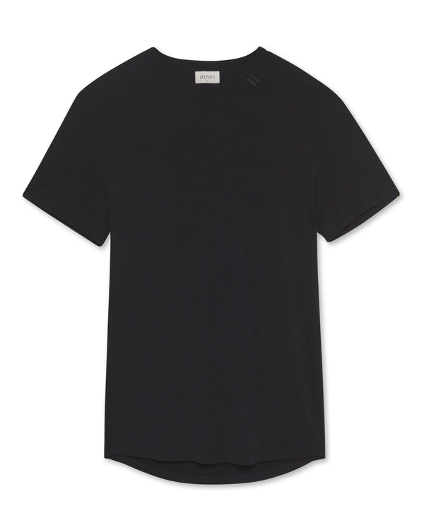 Drop Cut T Shirt - Black