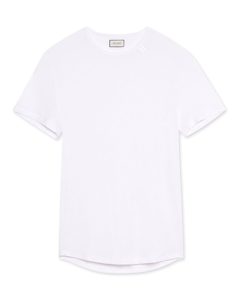 Drop Cut T Shirt - White