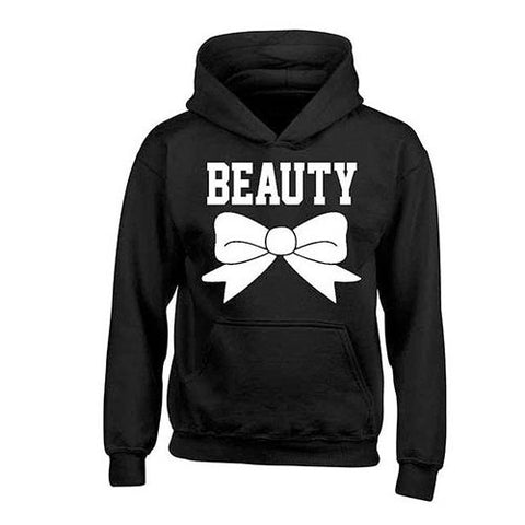 📍 BEAUTY 🎀 OR BEAST PRINTED COUPLES HOODIES