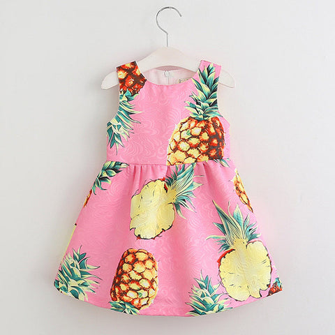 📍GIRLS SUMMER PINEAPPLE 🍍 DRESS (CHILDREN)