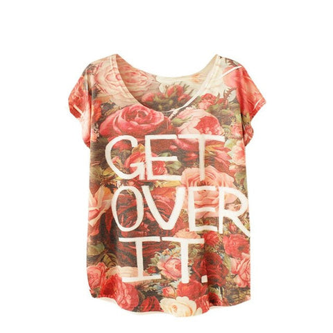 📍GET OVER IT FLOWER CHILD PRINT TEE