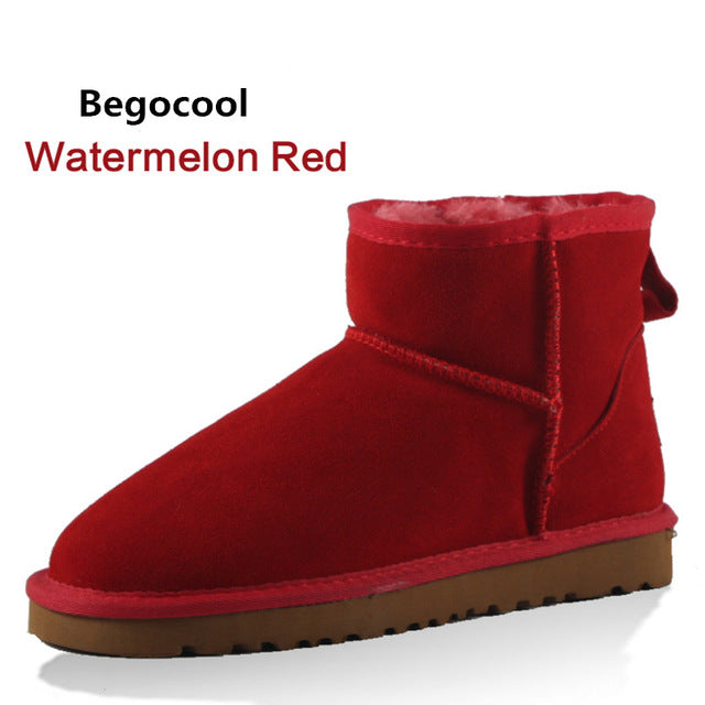... Begocool High Quality Australia Brand Winter Women s Snow Boots Cow  Split Leather Ankle Shoes Woman Botas ... db41923f4