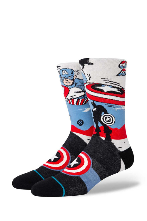 A classic sock reaching mid calf. Lightweight sock provide a breathable barrier between shoe and foot. Combed cotton blend.