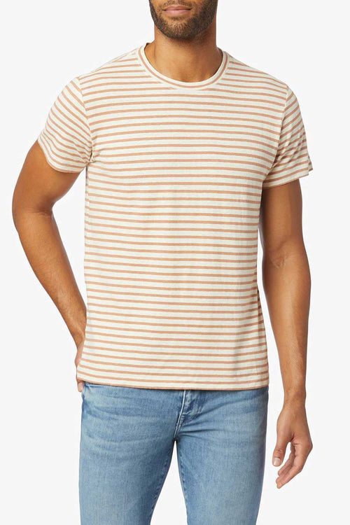 The Stripe Crew from Joes Jean's is made from a hemp and cotton blend jersey and is very soft and comfortable.