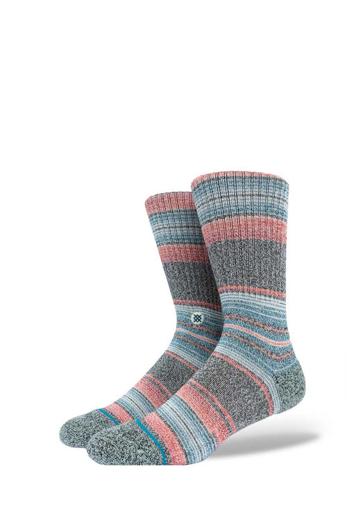 A classic sock reaching mid calf. Special cushioning for added comfort. Cotton/modal/lyocell blend (lyocell and modal are sustainable materials).