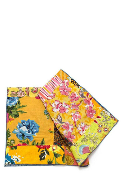 Bengal Patchwork Double Sided Bandana - yellow