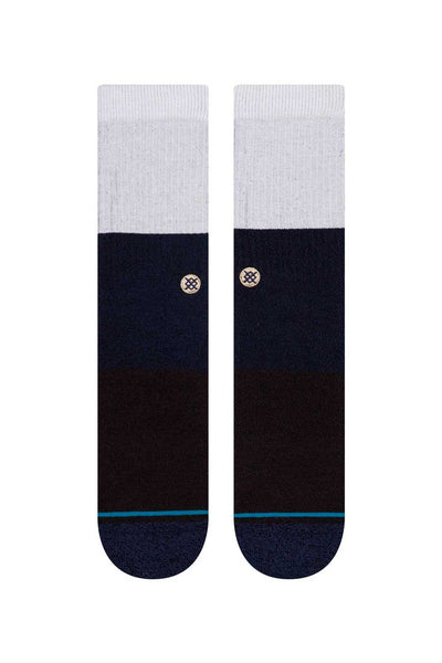 A classic sock reaching mid calf Special cushioning for added comfort Cotton/modal/lyocell blend (lyocell and modal are sustainable materials)