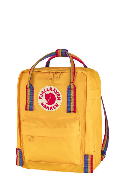 The Mini Kanken from Fjallraven is a rugged versatile back pack made sustainably. It's extremely durable, so prepare to have it a long time to come.