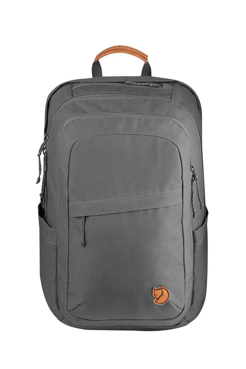 "28 liter (7.4 gallon interior capacity). Comfy cushioned back panel and straps.  Accommodates 15"" laptop in separate padded compartment"