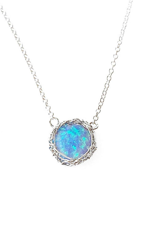 Sea Opal Round Necklace