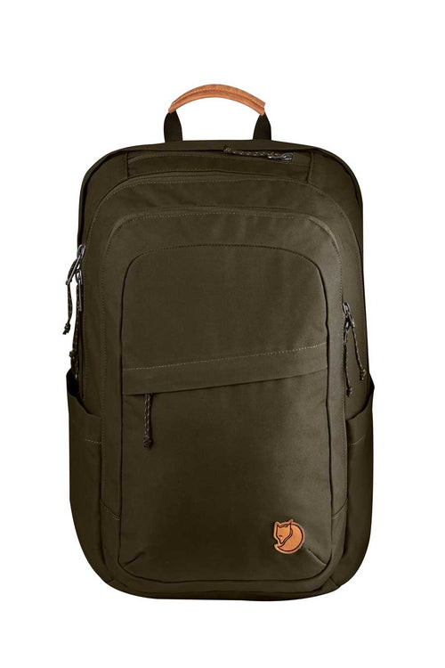 The Raven 28 by Fjallraven is a ugged, versatile and eco-friendly backpack. Made from organic cotton and recycled polyester (G-1000 HeavyDuty Eco).