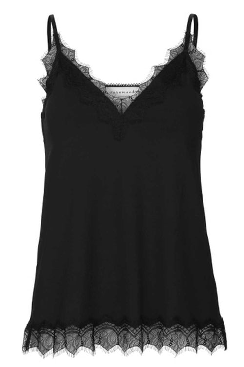 Rosemunde Strap Top made from recycled poly black