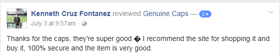 Genuine Caps Review by Kenneth Cruz