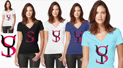 Yoga Sexy Logo (Fitted V Tee)  $24.00
