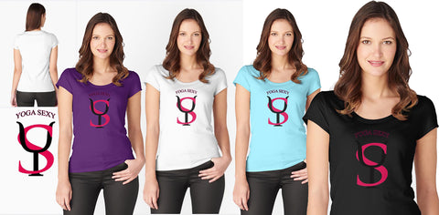 Yoga Sexy TitleLogo (Fitted Scoop Tee)  $29.50