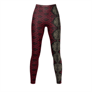 Yoga Sexy RaceLaceRed Leggings - Yoga Sexy