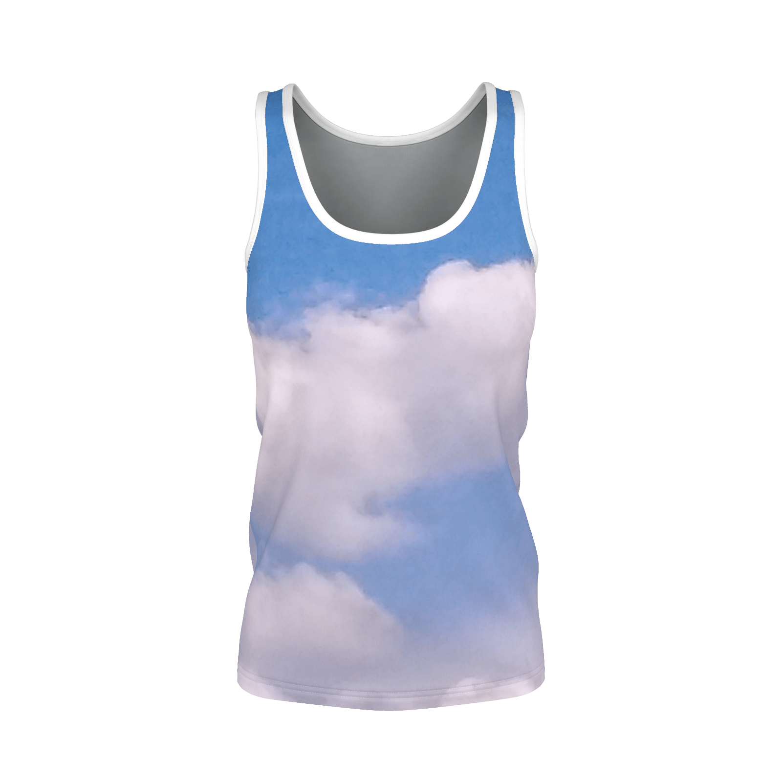 Yoga Sexy WhiteFluffy Tank Top - Yoga Sexy