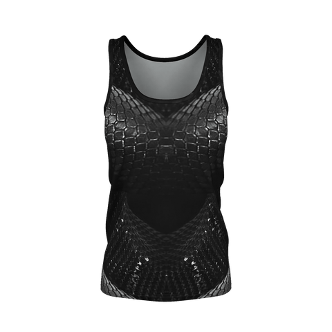 Yoga Sexy Dragonskin Black Pima Tank Top - Yoga Sexy