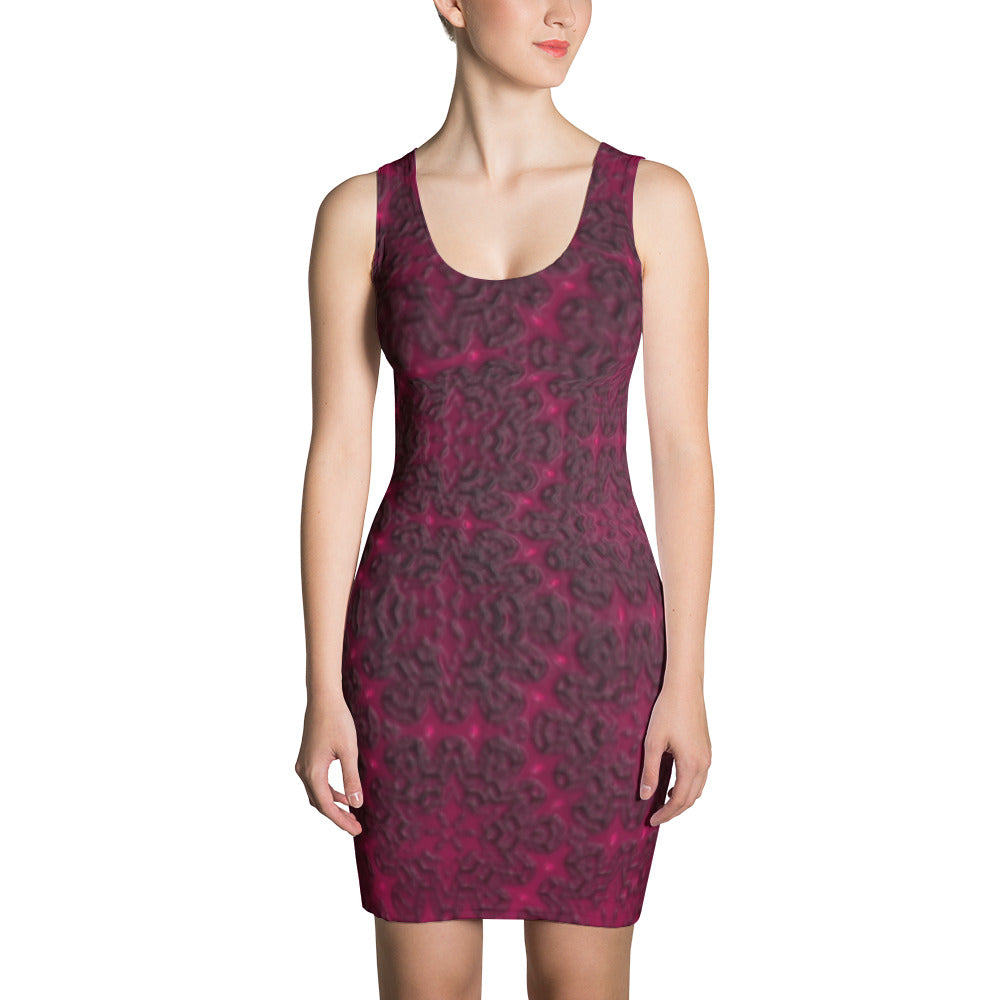 Yoga Sexy Pinklacey Sublimation Cut & Sew Dress (One of a Kind) - Yoga Sexy