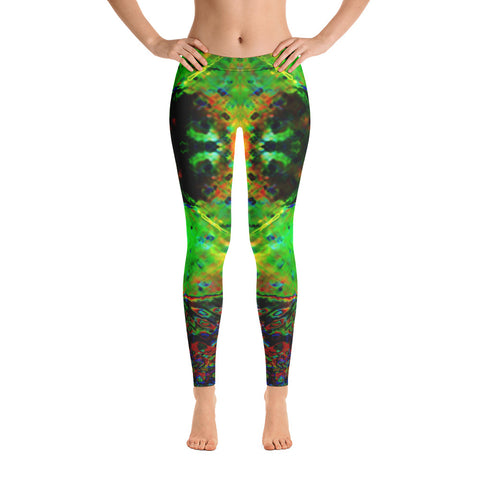 Green Fire Leggings