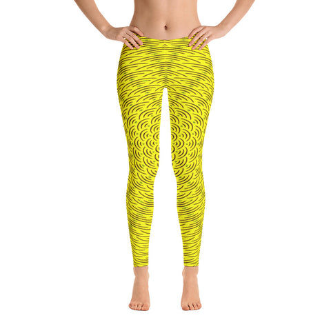 Golden Resonance Leggings