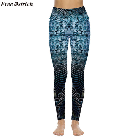 Discount Imported Gradient High Waist Leggings