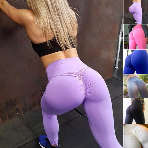 Discount Import  Workout Leggings Scrunch Butt Lift