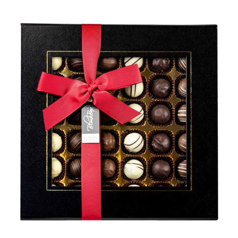 black box alcohol free truffles 36 piece box