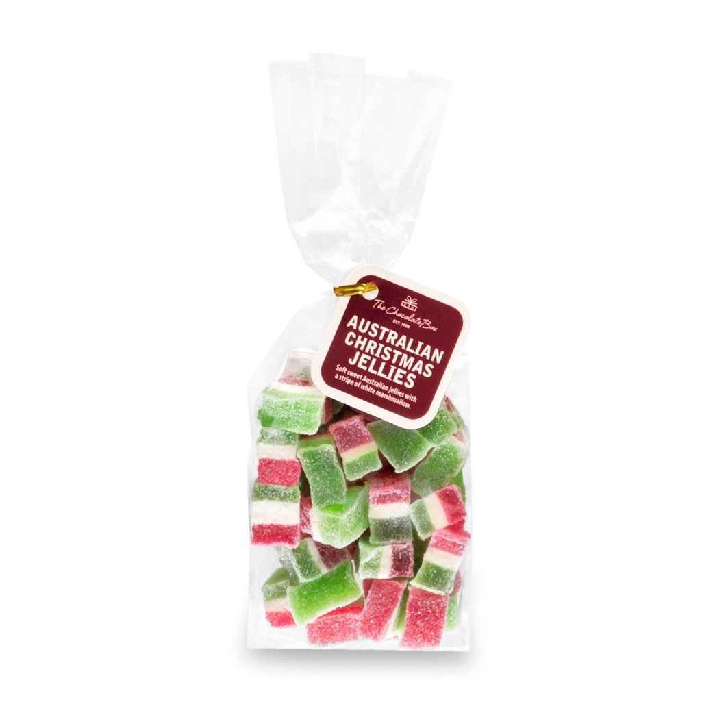 Red and Green Striped Australian Christmas Jelies Bag