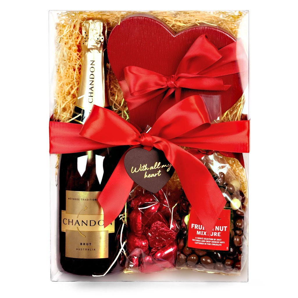 Say I Love You Hamper with Chandon and chocolates
