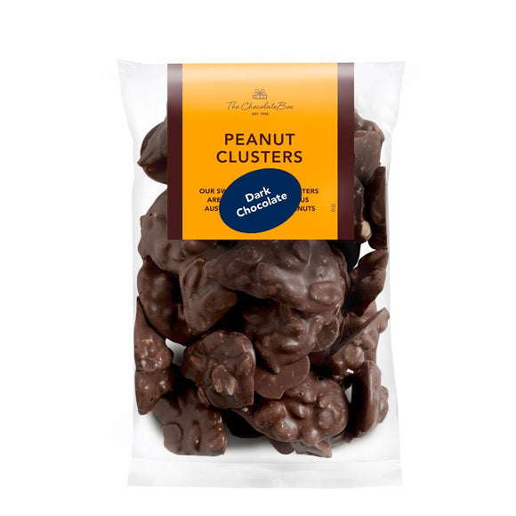 dark choc australian grown peanut clusters bag