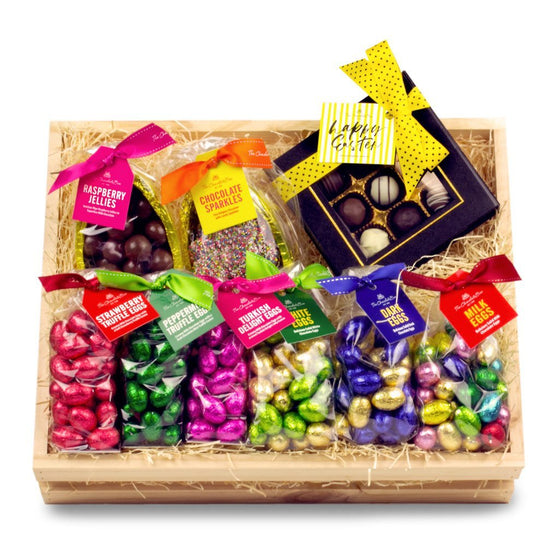 The Chocolate Box Family Easter Wooden Crate Large Hamper