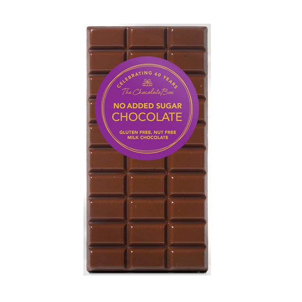No Added Sugar Milk Chocolate Block, Gluten Free, Nut Free 100g