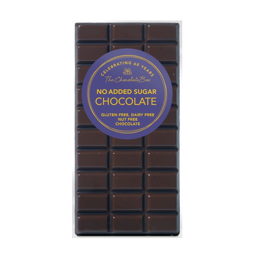 No Added Sugar Dark Chocolate Block, Dairy Free, Gluten Free, Nut Free 100g