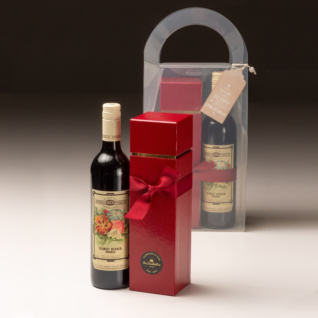 Wine Christmas Packaging.Organic Wine With Adlers Tall Chocolate Box Gift Pack