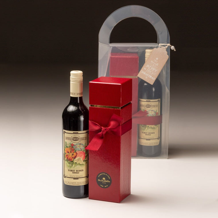 Organic Wine with Adlers Tall Chocolate Box, Christmas Gift Pack -