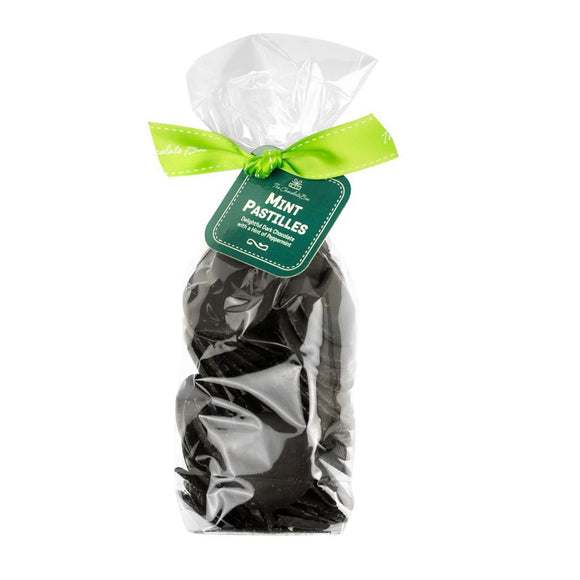 Dark Chocolate Peppermint Pastilles, 195g Bag
