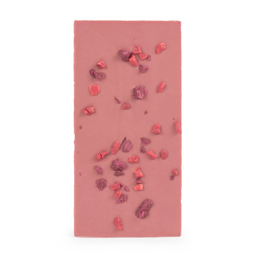 Ruby Block, Belgian Ruby Chocolate with Freeze Dried Berry & Cherry Sprinkles, 100g