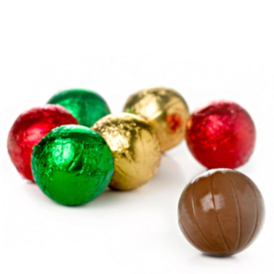 Christmas Baubles, Milk Chocolate Gift Bag 300g