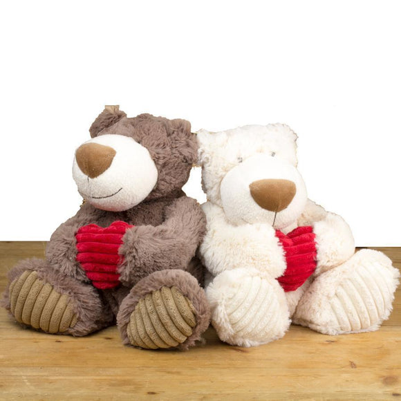 Aiden Bear with Heart Toy, 32cm