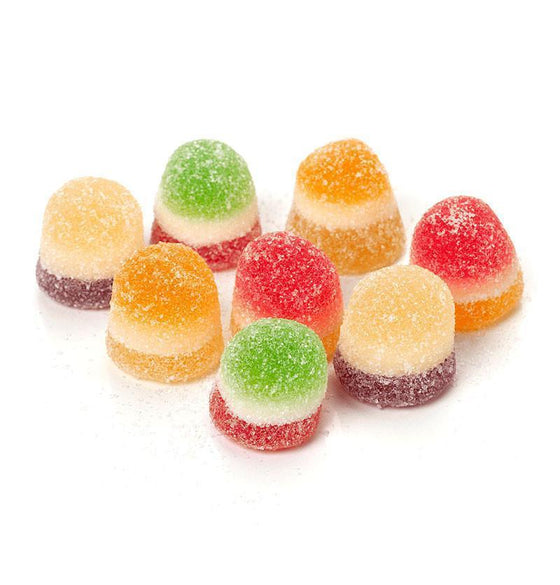 Belgian Tangy Fruit Jellies with Marshmallow, 300g Bag