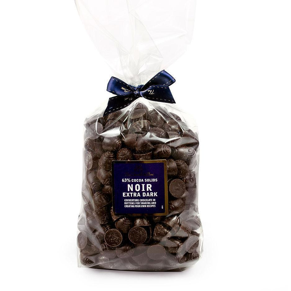 Couverture Buttons, Noir 63% Dark Chocolate 1kg Bag