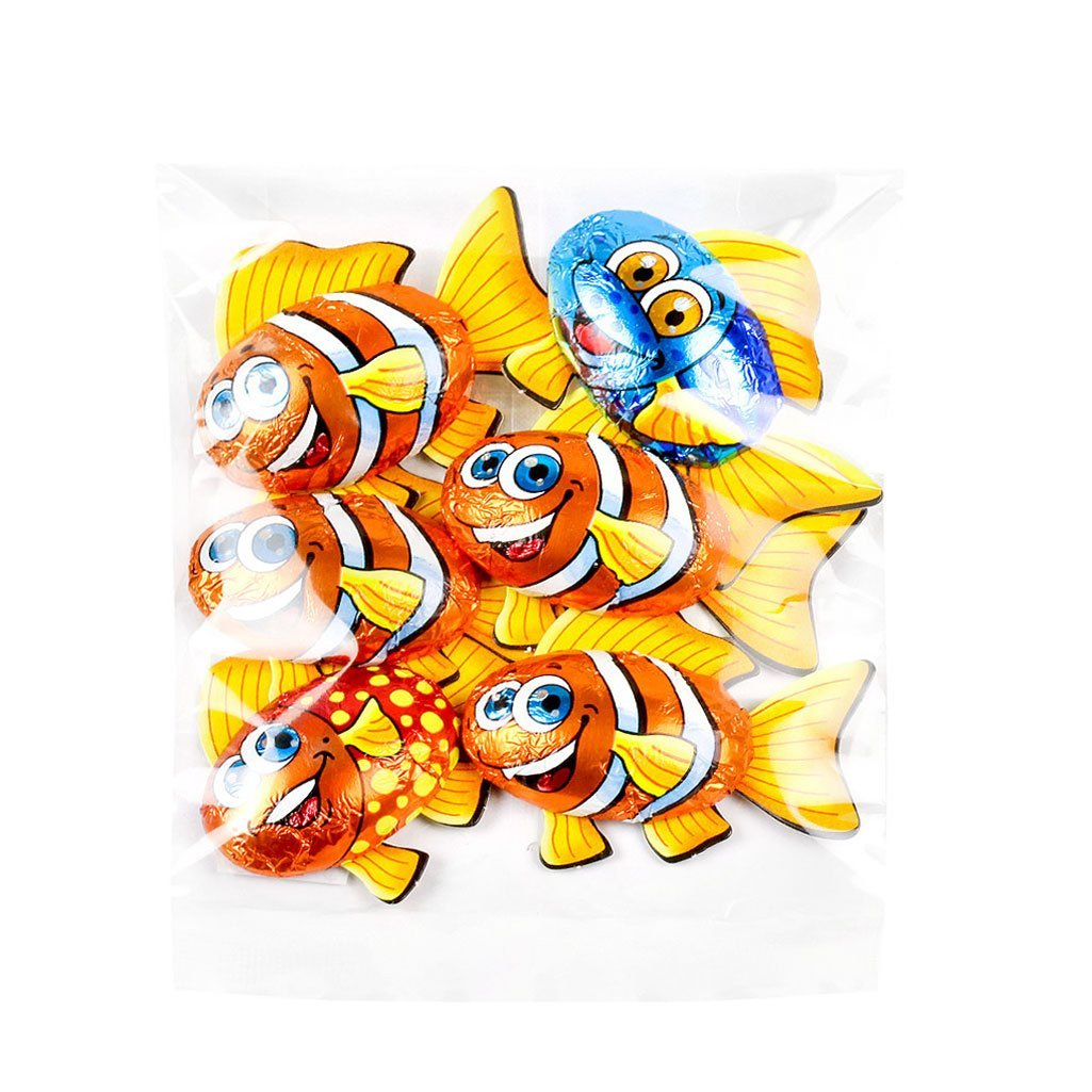 6 Pack of Milk Chocolate Novelty Fish