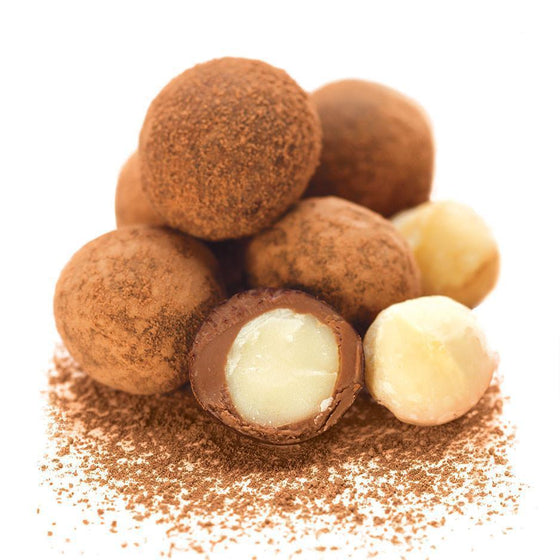Macadamias, Cocoa Dusted Milk Chocolate 300g Bag
