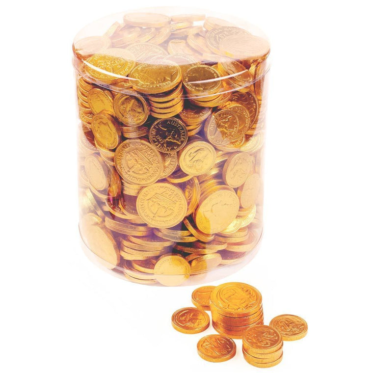 Gold Coin, Milk Chocolate, Nut Free, 2kg Tub