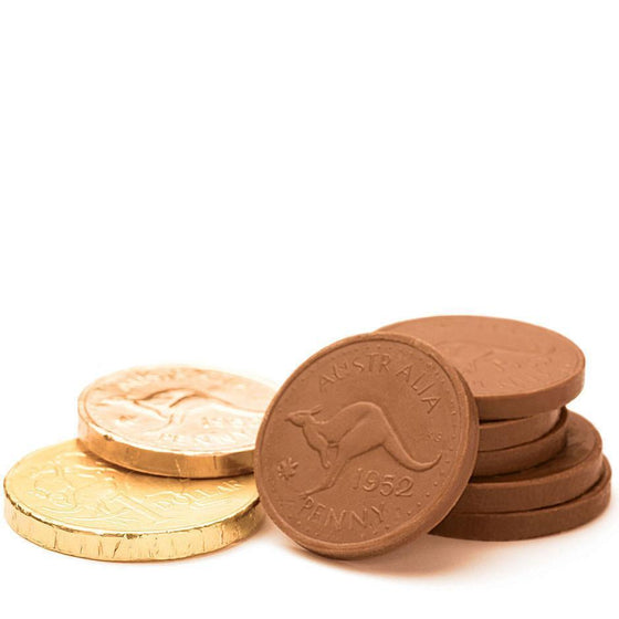 Gold Coins, Nut Free Milk Chocolate (100g, bulk)