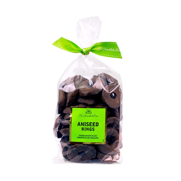Chocolate Aniseed Rings Dark, 600g Bag