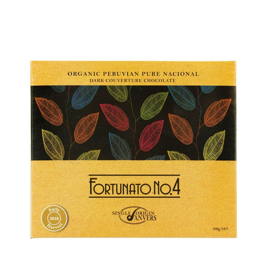 Fortunato no.4 peruvian dark single origin organic chocolate