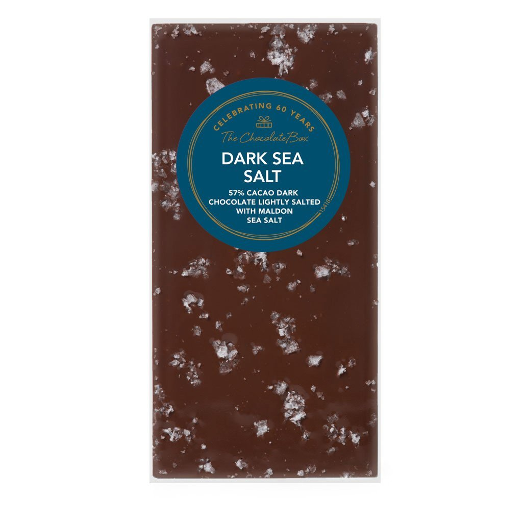 Sea Salt 57% Block, Dark Chocolate 100g