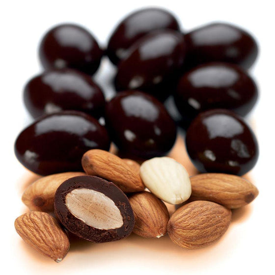 Scorched Almonds, Dark Chocolate 1kg Bag